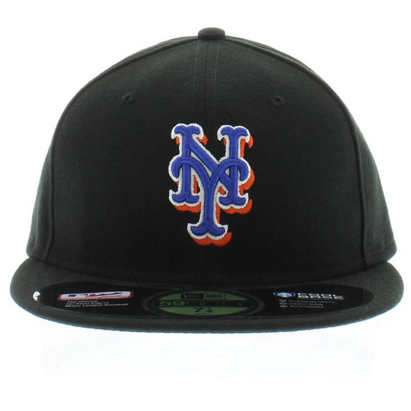 Picture of New York Mets New Era Alternate Cooperstown On Field 59FIFTY  Fitted Hat - Black 7106ca5fbb2