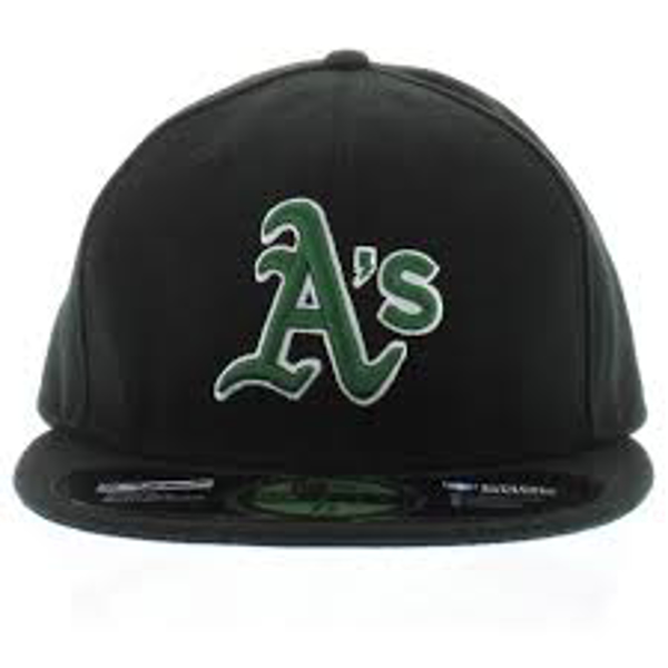 Picture of Oakland Athletics New Era Cooperstown Alternate Authentic Collection On Field 59FIFTY Performance Fitted Hat - Green
