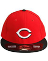 Picture of Cincinnati Reds New Era Road Authentic Collection On-Field 59FIFTY Fitted Hat - Red/Black