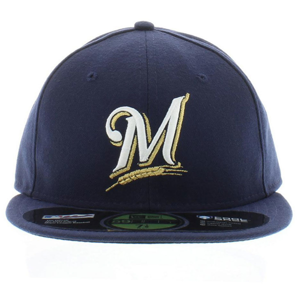 Picture of Milwaukee Brewers New Era Game Authentic Collection On Field 59FIFTY Performance Fitted Hat