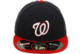 Picture of Washington Nationals New Era Alternate Authentic Collection On-Field 59FIFTY Fitted Hat - Navy/Red