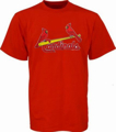 Picture of St. Louis Cardinals Birds On Bat Tee
