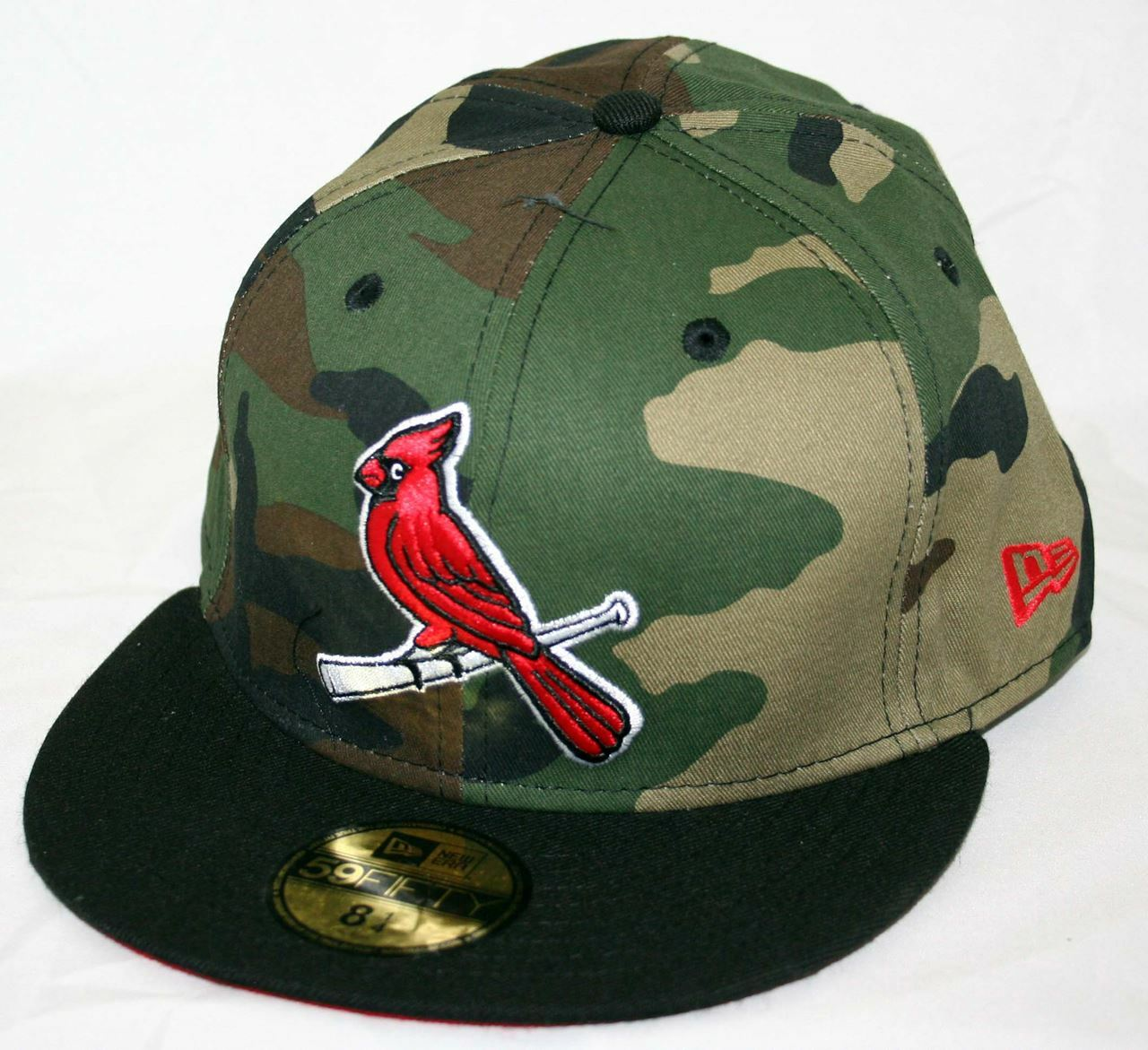 435979e71dda6 Picture of St. Louis Cardinals Woodland Camo Custom New Era 5950 Fitted Hat