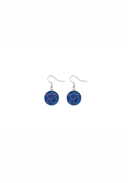 Picture of St. Louis Blues Glitter Dangler Earrings
