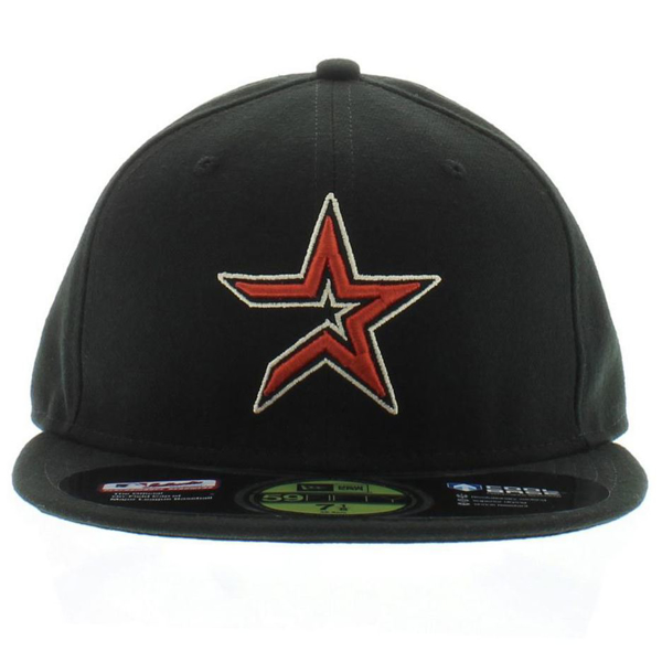 Picture of Houston Astros New Era Game Cooperstown On Field 59FIFTY Performance Fitted Hat