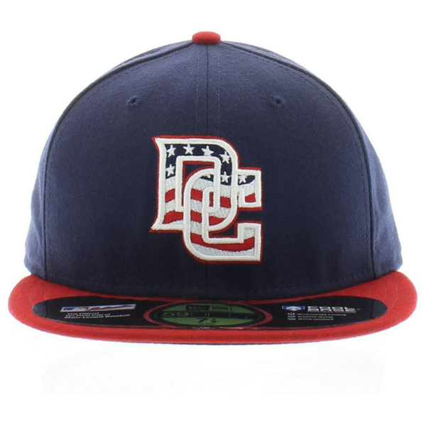 Picture of Washington Nationals New Era Alternate Cooperstown Authentic Collection On-Field 59FIFTY Fitted Hat - Red/Navy