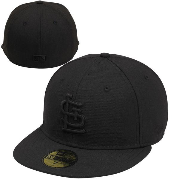 Picture of St. Louis Cardinals New Era Tonal 59FIFTY Fitted Hat - Black