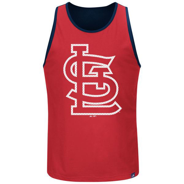 Picture of Men's St. Louis Cardinals Majestic Red Big & Tall All Last Season Tank Top
