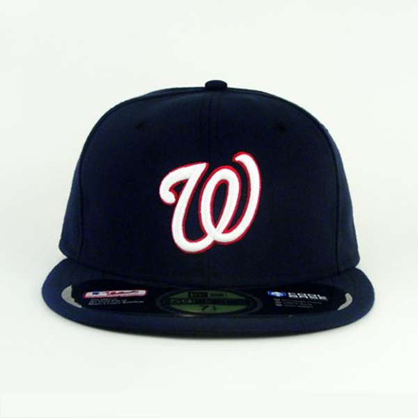 Picture of Washington Nationals New Era Road Authentic Collection On-Field 59FIFTY Fitted Hat - Navy