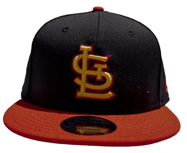 Picture of St. Louis Cardinals Alternate Snapback Hat - Black/Scarlet Custom Snapback 950