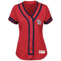 Picture of Women's St. Louis Cardinals Majestic Red/Navy Absolute Victory Fashion Team Jersey