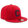 Picture of Cleveland Indians New Era Alternate Authentic Collection On Field 59FIFTY Fitted Hat - Red