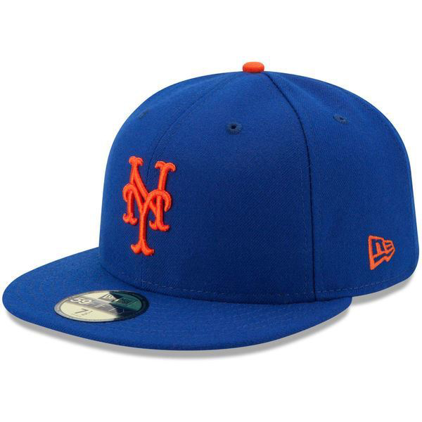 Picture of New York Mets New Era Authentic Collection On Field 59FIFTY Fitted Hat - Royal