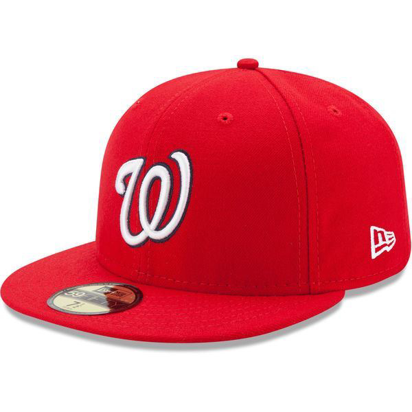 Picture of Washington Nationals New Era Game Authentic Collection On-Field 59FIFTY Fitted Hat - Red