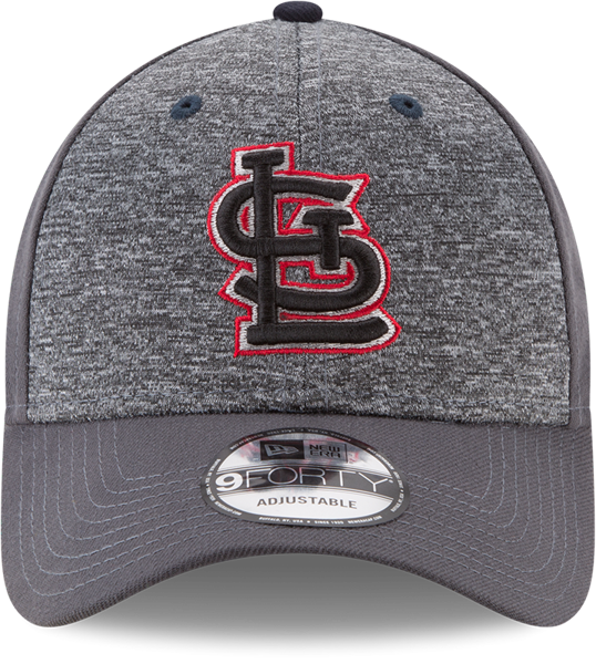 "Picture of St. Louis Cardinals New Era 9Forty MLB ""League Shadow 2"" Adjustable Hat - Gray"