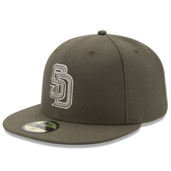 Picture of San Diego Padres New Era Turn Back The Clock 59FIFTY Alternate 2 Fitted Hat - Brown