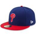 Picture of Philadelphia Phillies New Era Authentic Collection Alternate On-Field 59FIFTY Fitted Hat - Royal/Red