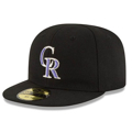 Picture of Colorado Rockies New Era Authentic Collection On-Field My First 59FIFTY Fitted Hat - Black