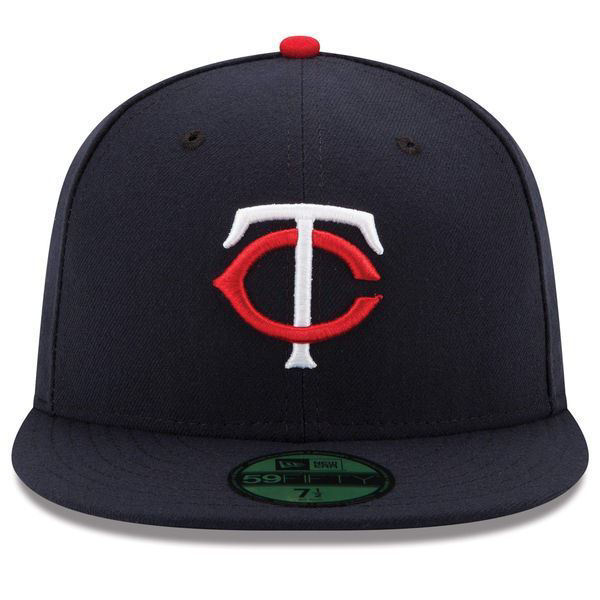 hot sale online ec1d8 cf7aa Picture of Minnesota Twins New Era Home Authentic Collection On-Field 59FIFTY  Fitted Hat -