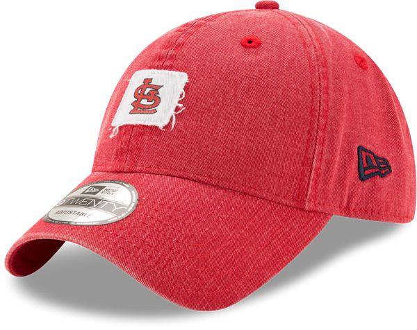 Picture of Men's St. Louis Cardinals New Era Red Stamped 9TWENTY Adjustable Hat