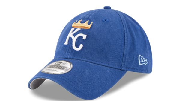 Picture of New Era Kansas City Royals Mens Blue 2017 Spring Training 920 Washed Adjustable Hat