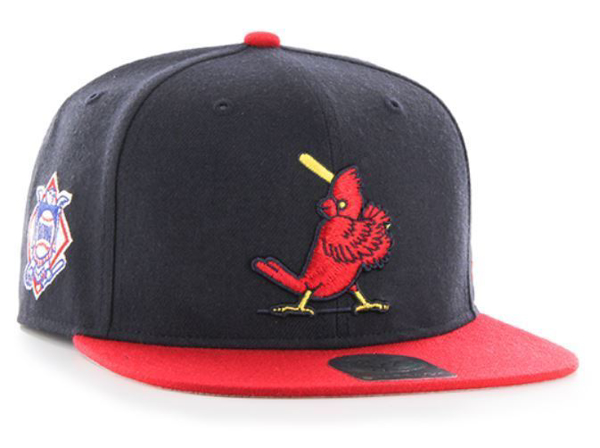 huge discount 8957a d06a9 Picture of St. Louis Cardinals Cooperstown Navy Sure Shot Two Tone 47  CAPTAIN Wool Snapback
