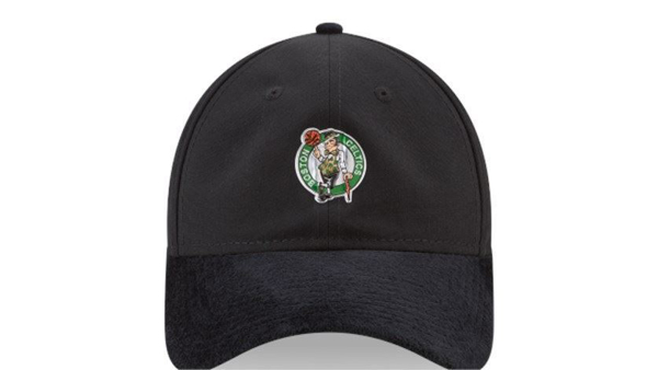 Picture of Men's New Era Black Boston Celtics 2017 NBA Draft Official On Court Collection 9TWENTY Adjustable Hat