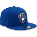 Picture of Milwaukee Brewers New Era Authentic Collection On-Field Alternate 59FIFTY Fitted Hat - Royal
