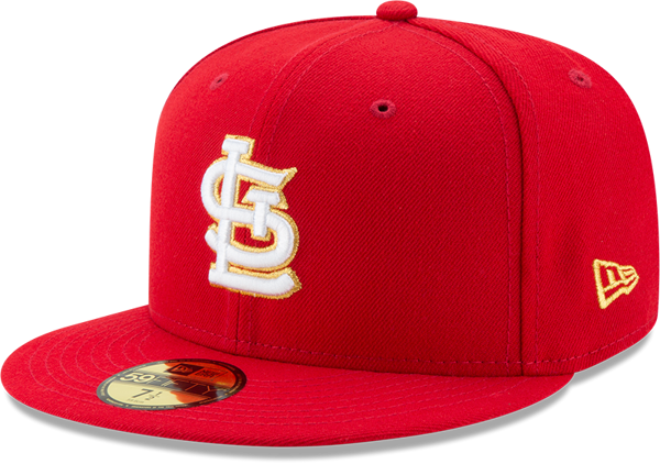 Picture of Men's St. Louis Cardinals New Era Red Gold City 59FIFTY Fitted Hat