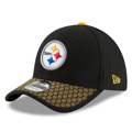 Picture of Pittsburgh Steelers New Era 2017 Sideline Official 39THIRTY Flex Hat - Black