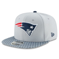 Picture of New England Patriots New Era 2017 Sideline Official 9FIFTY Snapback Hat - Silver