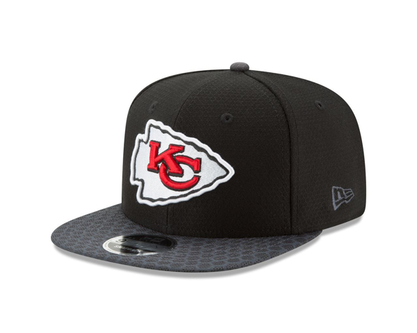 Picture of Kansas City Chiefs New Era NFL 2017 Sideline 9FIFTY Snapback Hat - Black