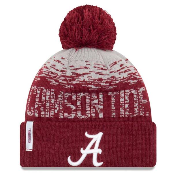 newest 4f3b9 b2838 ... australia picture of alabama crimson tide new era sport cuffed knit  flect hat with pom crimson