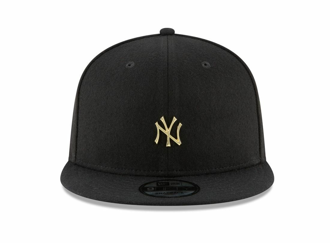 41072b68359 Picture of New Era MLB New York Yankees Badge Slick Snapback Cap Black Gold