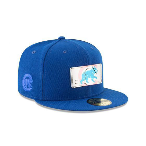 Picture of New Era Chicago Cubs MLB Mixed Metal 5950 Fitted Cap (Royal)