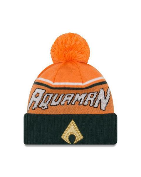 Picture of Aquaman Justice League DC Comics New Era Winter Knit Pom Jumbo Cheer Beanie