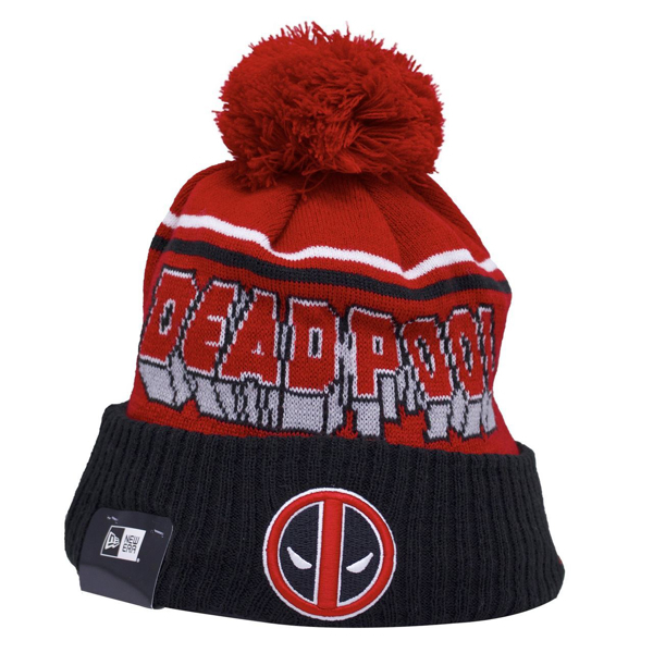 Picture of Marvel Deadpool Jumbo Cheer Comic Con Super Hero Winter Pom Beanie