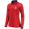 Picture of Women's St. Louis Cardinals Majestic Red Extremely Clear Half-Zip Pullover Jacket