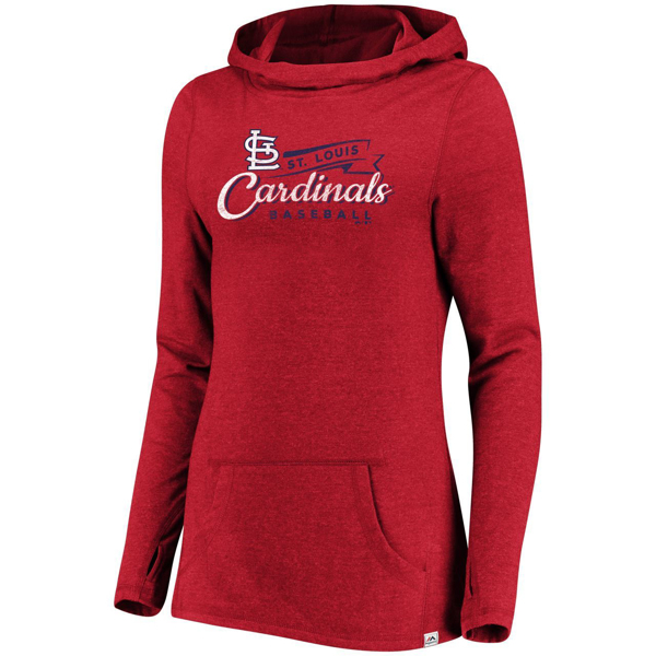 Picture of Women's Majestic St. Louis Cardinals Winning Side Pullover Hood