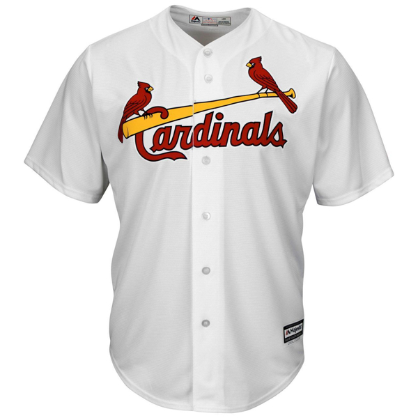 Picture of Men's St. Louis Cardinals Majestic White Home Cool Base Team Jersey