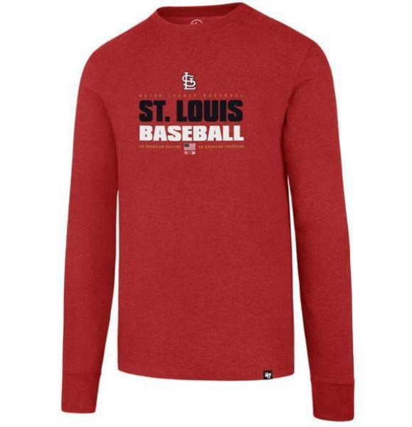 Picture of ST. LOUIS CARDINALS STACKER LONG SLEEVE '47 CLUB TEE