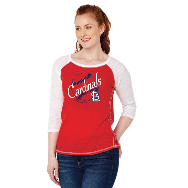Picture of St. Louis Cardinals Soft as a Grape Women's Multicount Baseball T-Shirt – Red