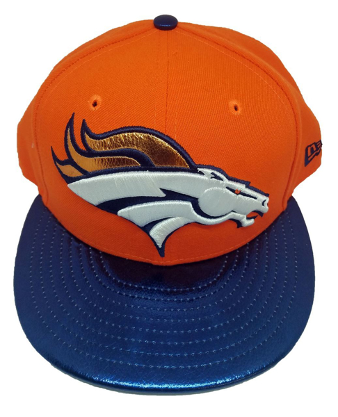 Picture of Denver Broncos New Era Shiny Trim Snapback Orange/Black