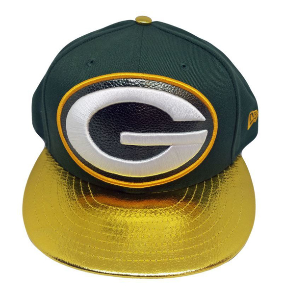 Picture of Green Bay Packers New Era Shiny Trim Snapback Green/Yellow
