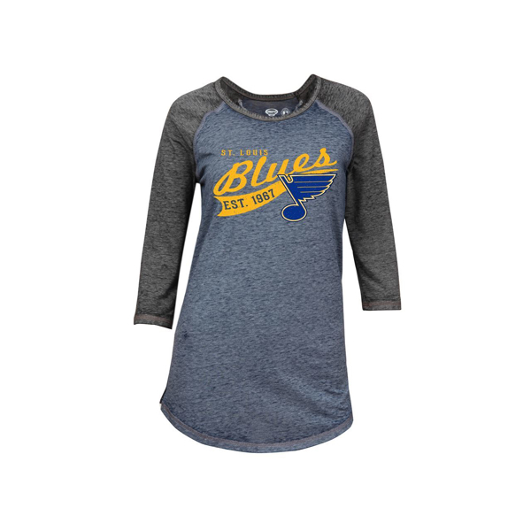 Picture of St. Louis Blues Deed Ladies 3/4 sleeve raglan by Concept Sports