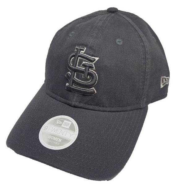 Picture of Women's St. Louis Cardinals New Era Grey Preferred Pick Tonal 9TWENTY Adjustable Hat