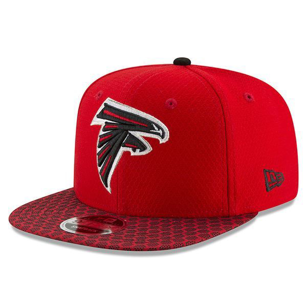 Picture of Men's Atlanta Falcons New Era Black 2017 Sideline Official 59FIFTY Snapback