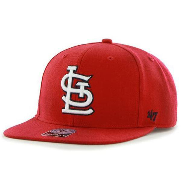 the latest 10fd1 bbf6d Picture of Men s St. Louis Cardinals  47 Red Sure Shot Snapback Adjustable  Hat