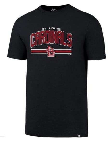 Picture of St. Louis Cardinals '47 Brand Super Arch Rival  T-Shirt - Navy Blue