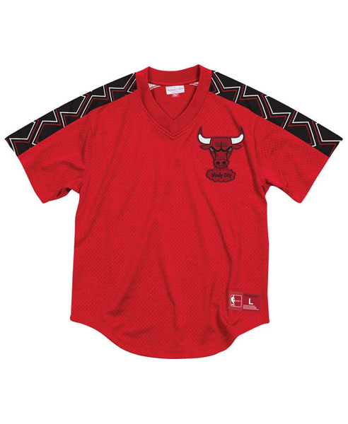 Picture of Chicago Bulls Mitchell & Ness NBA Men's Winning Team Mesh V-Neck Jersey